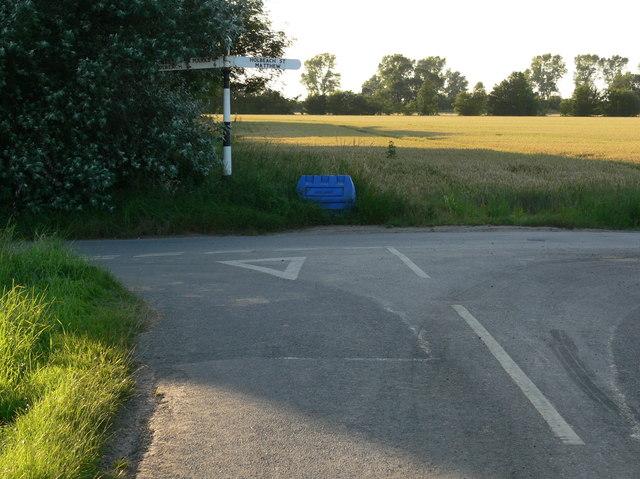 Road junction near Holbeach St Matthew