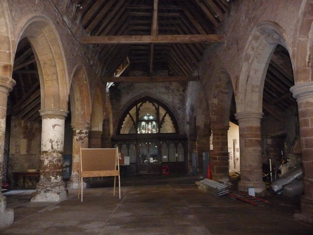 Part of the interior of St. Nicholas' church, Grosmont, Monmouthshire