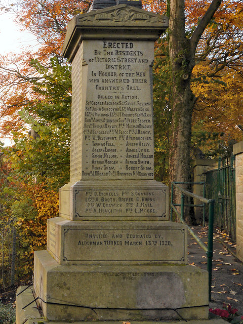 Victoria Street War Memorial (dedication)