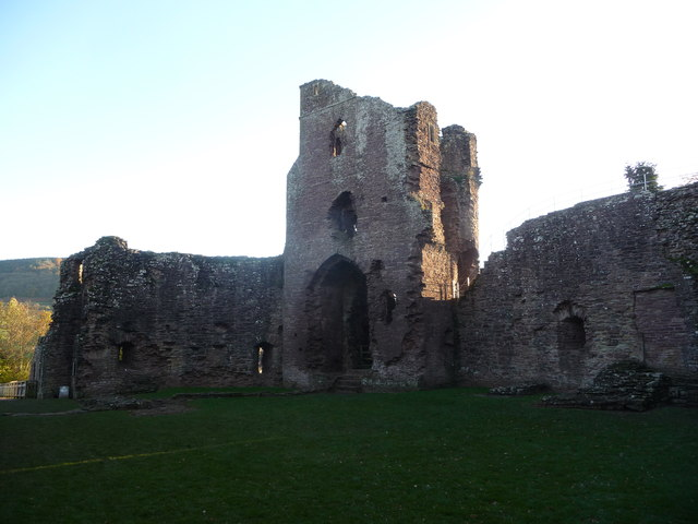 Part of Grosmont Castle, Monmouthshire