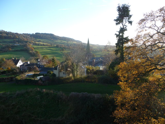 Part of Grosmont from the castle