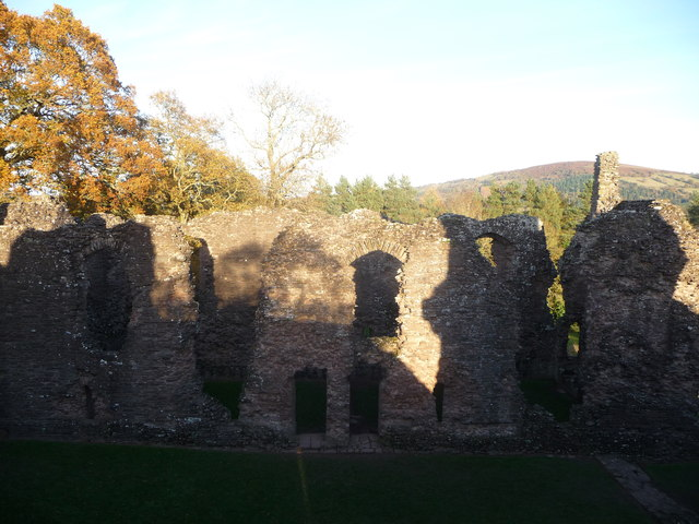 The Great Hall at Grosmont Castle, Monmouthshire