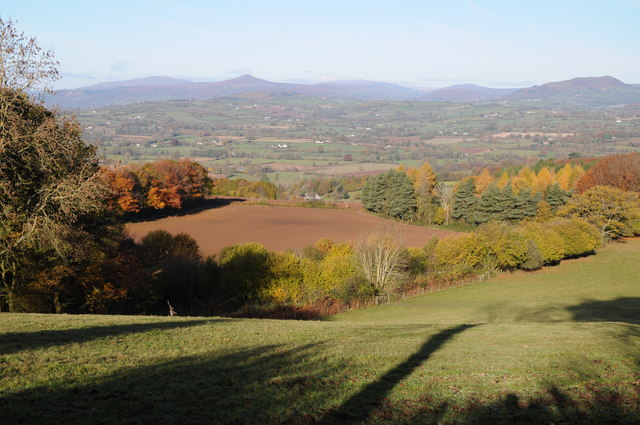 The Black Mountains viewed from Clytha Hill