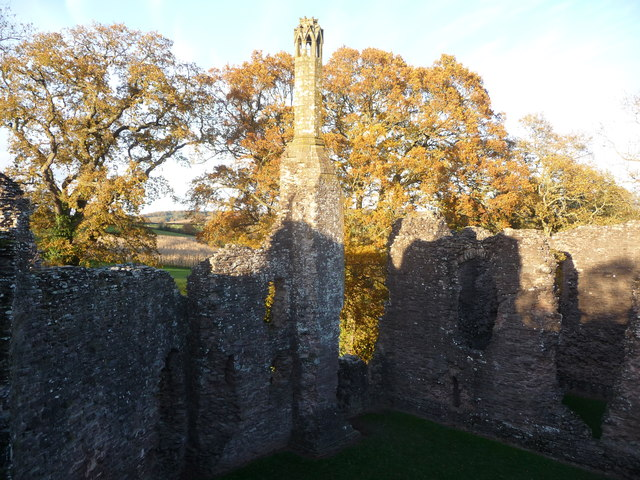 The great chimney at Grosmont Castle