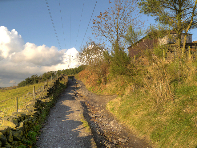 The Track Towards Shaw Moor