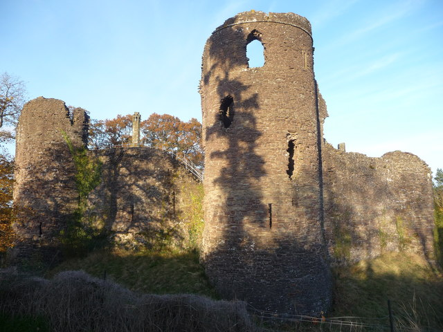 The towers of Grosmont Castle, Monmouthshire