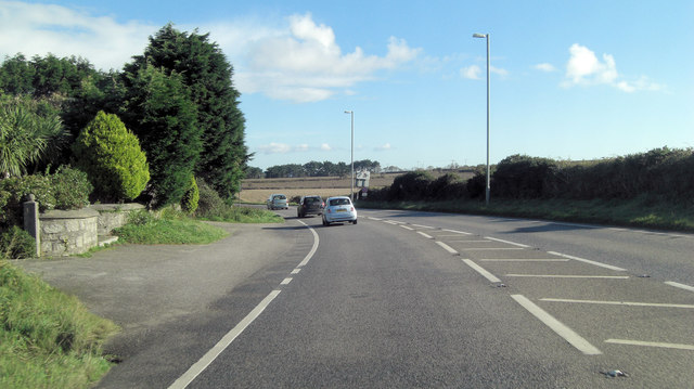 A394 southeast of Calamankey Farm