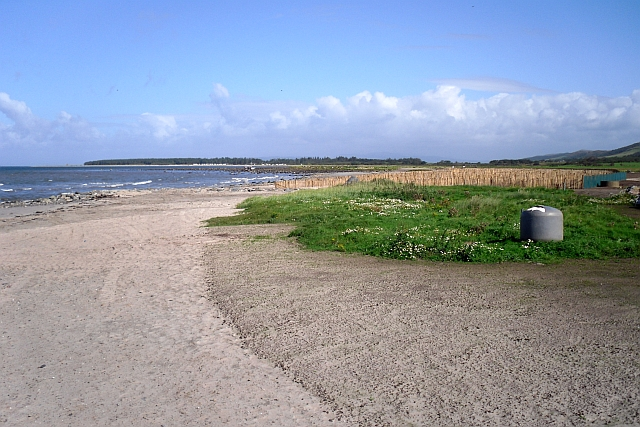 Beach north of Tayinloan ferry terminal