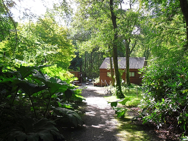 Visitor reception area, Achamore Gardens