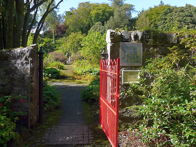 Gate to the walled garden at Achamore