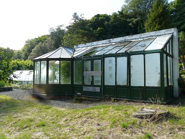 Disused conservatory, north walled garden