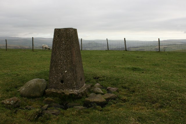Trig point on Sponds Hill