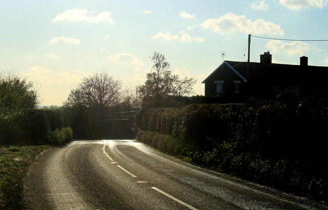 2012 : A359 approaching Fir Tree Cottages