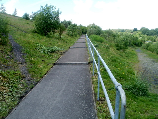 Stepped ramp, Taff Bargoed Millennium Park, Trelewis