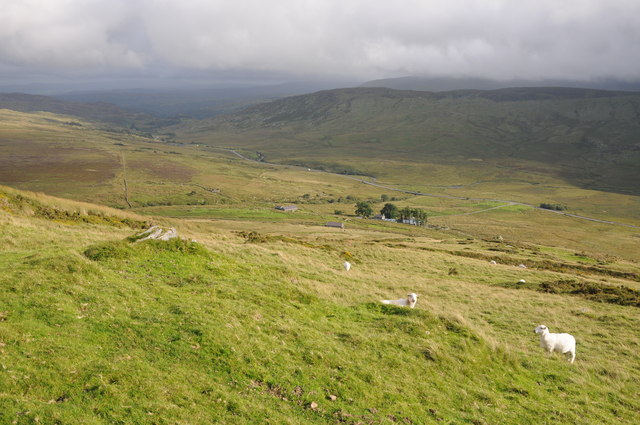 View from the slopes of Y Braich