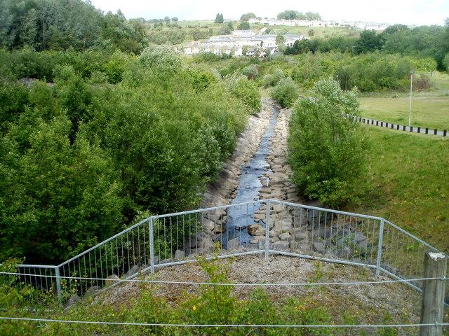 Taff Bargoed river, Trelewis