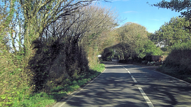 A39 northwest of Little Laniley Farm