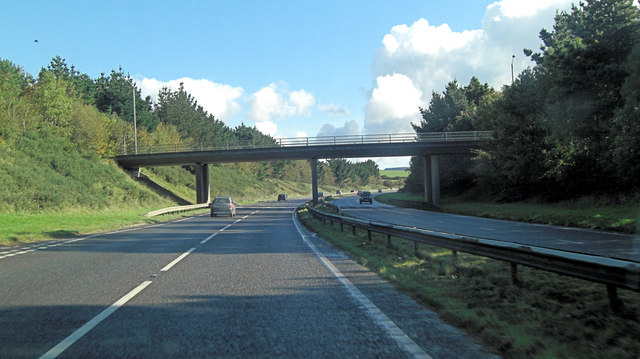 A30 crossed by A3076