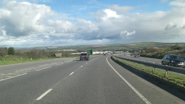 A30 east of Indian Queens