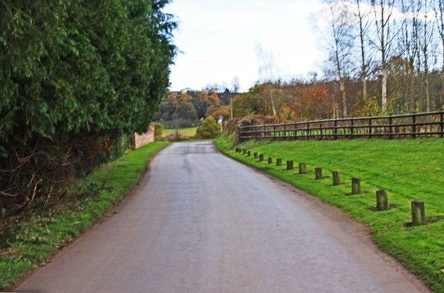 Lane leading to Sladd Lane, near Drakelow