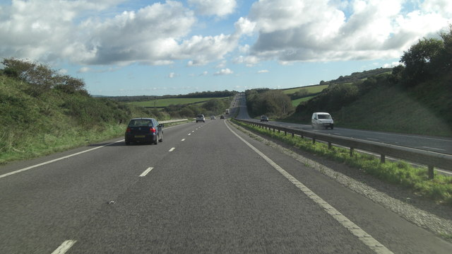 A30 south of Treliggon