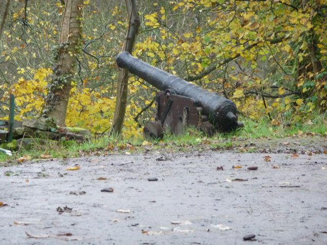 Ship's cannon in Cleobury