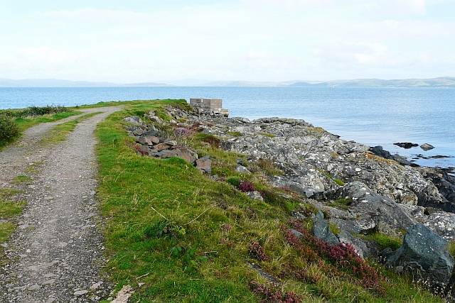 End of the track, northern tip of Gigha