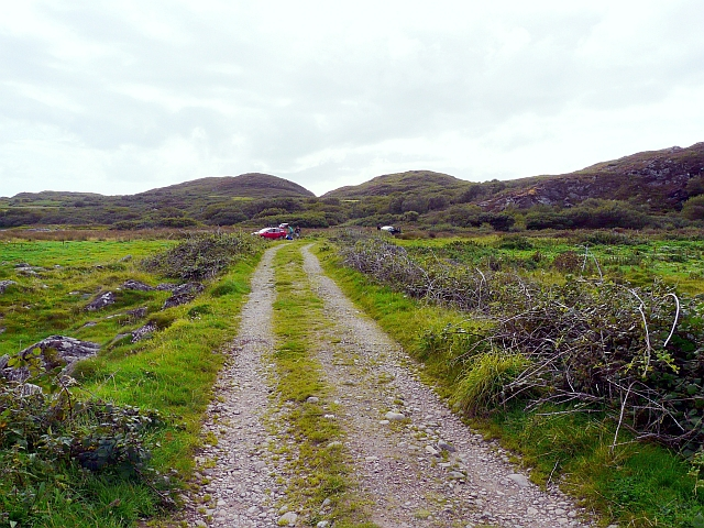Parking area and track, top end of Gigha