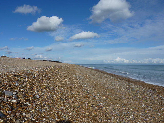 Thorpeness beach - a storm bank in the shingle