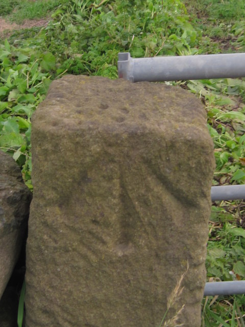 Ordnance Survey Rivet with Cut Mark