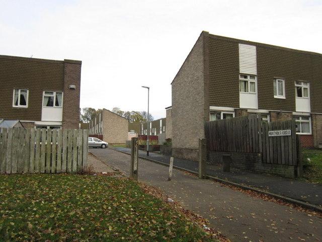 Northolt Close on Ings Road Estate