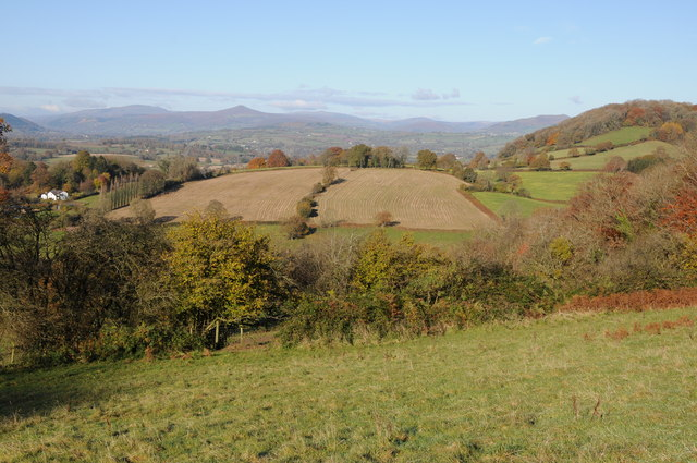 Black Mountains viewed from Trostrey Hill
