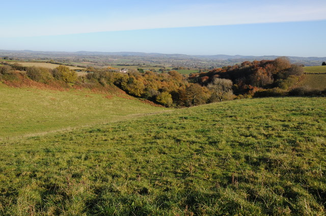 View to the east from Trostrey Hill