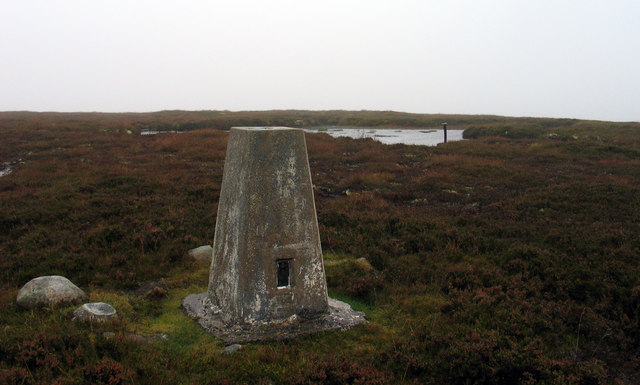 Summit area of Knock of  Braemoray
