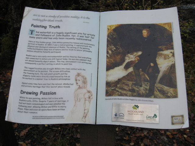 John Ruskin in Glen Finglas