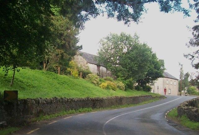 The R183 approaching the Killeevan Cross Roads