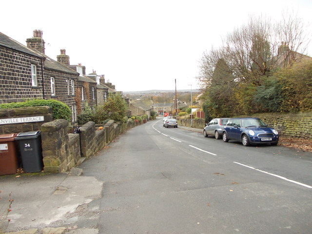 Moor Lane - viewed from Moorland Crescent