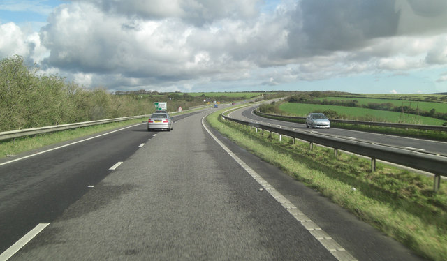 A30 north of Racecourse Farm