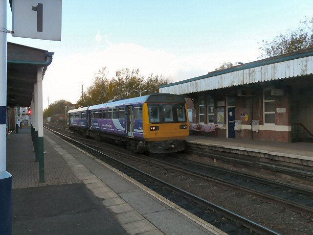 Marple train at Romiley