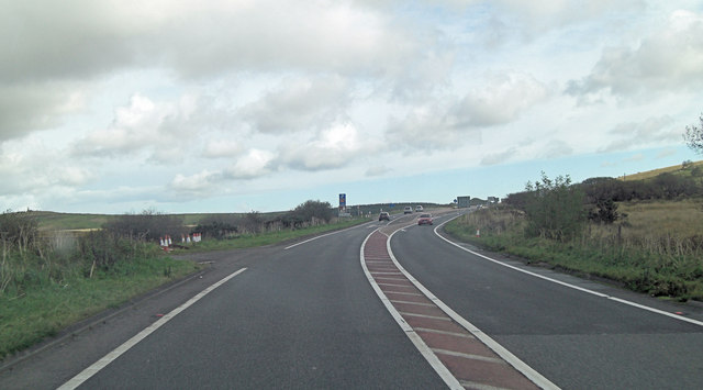 A30 northwest of Temple Tor