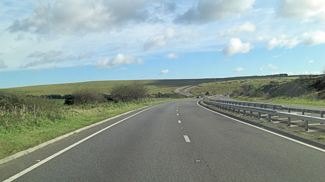A30 south of Lower Hawkstor Farm