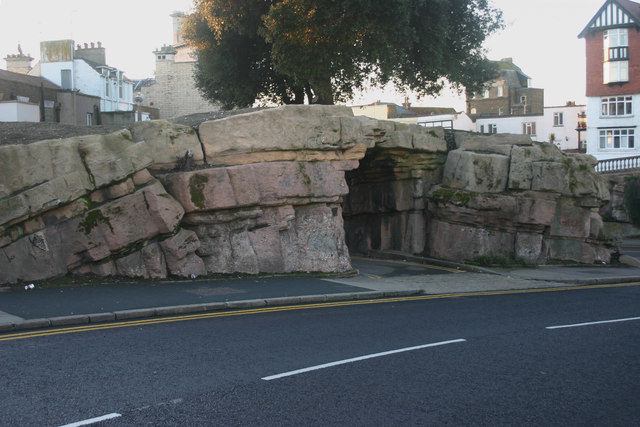 Pulhamite 'anticline', Madeira Walk, Ramsgate