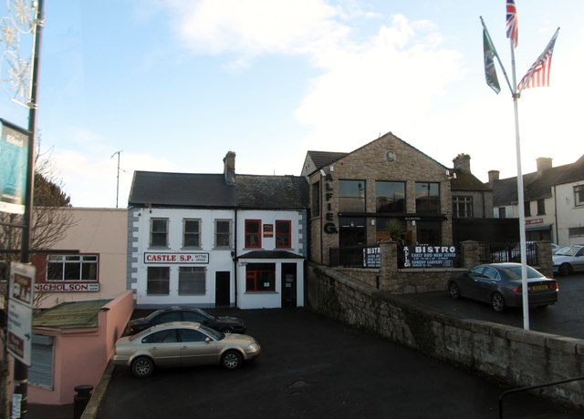 Castle S.P. the Bookies and Alfie G's Bistro on Kilkeel's Upper Square