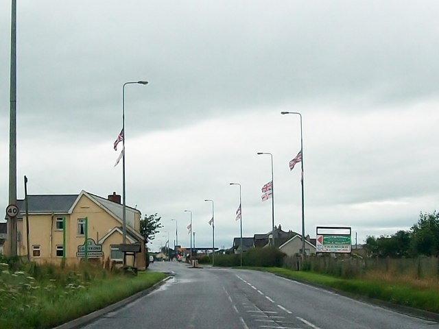 Entering Co Tyrone on the A5 at Magheramason