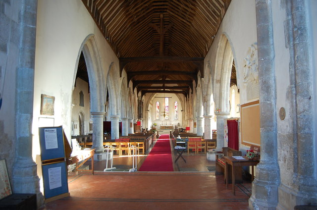 Interior, All Saints' church, Lydd