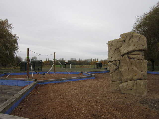 The play area at Frome and Loglands Park