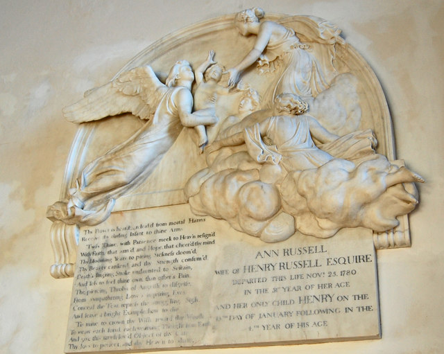 Memorial to Ann Russell, All Saints' church, Lydd