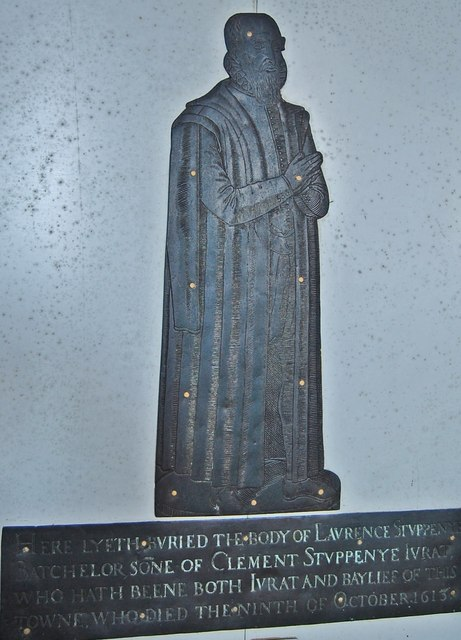 Brass to Laurence Stuppenye, Lydd church