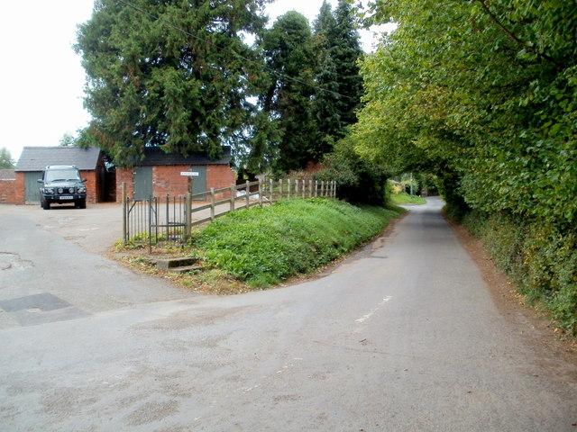 Dark Lane north of School Road, Ewyas Harold