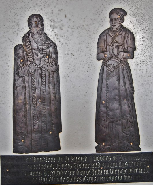 Brass to Thomas & Malyn Harte, Lydd church